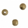 Wooden Bead Round 5mm Gold Lacquered